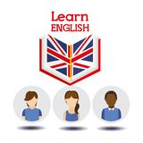 Learn english design. Illustration eps10 graphic Stock Image