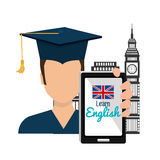 Learn english design. Illustration eps10 graphic Stock Image