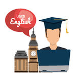Learn english design. Illustration eps10 graphic Stock Images