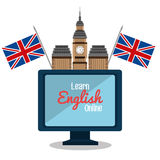 Learn english design Royalty Free Stock Photo