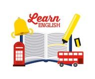 Learn english design Stock Photo