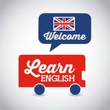 Learn english design stock illustration