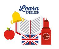 Learn english design Royalty Free Stock Photo