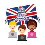 Learn english design Stock Image