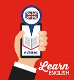 Learn english design Stock Photo