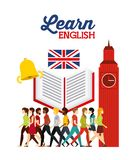 Learn english design Royalty Free Stock Image