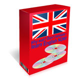Learn English language course - CDs in box Stock Photos