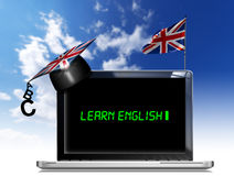 Learn English - Laptop Computer Stock Photo