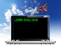Learn English Laptop Computer Stock Photography