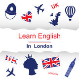 Learn english in London poster vector illustration