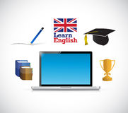 Learn english online diagram concept Royalty Free Stock Photo