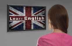 Learn english online Stock Image