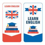 Learn english sticker Royalty Free Stock Images