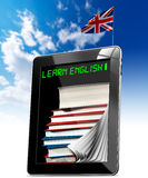 Learn English - Tablet Computer Royalty Free Stock Photography