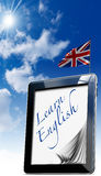Learn English - Tablet Computer Royalty Free Stock Photos
