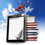 Learn English - Tablet Computer Royalty Free Stock Image