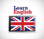 Learn english tablet electronic sign Stock Images