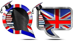 Learn English - Uk Speech Bubble Stock Photo