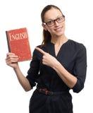Learn English woman Stock Photo