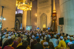 Learn with famous preacher inside the mosque Royalty Free Stock Image