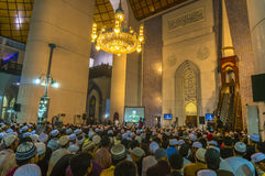 Learn with famous preacher inside the mosque Stock Photography