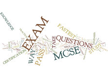 Learn The Fastest Way To Pass Mcse Exam Text Background  Word Cloud Concept Stock Photo