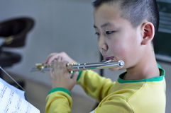 Learn the flute Royalty Free Stock Photo