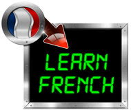 Learn French - Metal Billboard Stock Photography