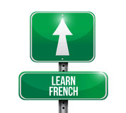 Learn french signpost illustration design Royalty Free Stock Photography