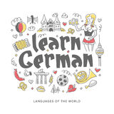 Learn German Concept Illustration Stock Images