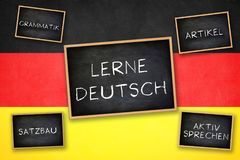 Learn German Stock Images