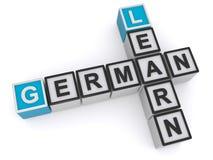 Learn German illustrated stock illustration