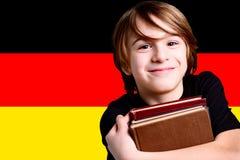 Learn german language. Child learn the german language Stock Photos
