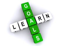 Learn goals. An illustration of a crossword with the words learn and goals Royalty Free Stock Images