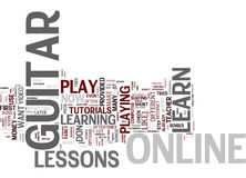 Learn Guitar Online Text Background  Word Cloud Concept Royalty Free Stock Images