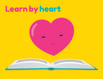 Learn by heart sticker Stock Photos