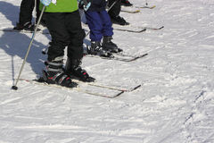 Group Skiing Lesson  Royalty Free Stock Photography