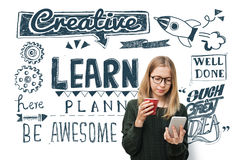 Learn Insight Education Knowledge Wisdom Ideas Concept Stock Photo