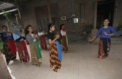 Learn Javanese dance Stock Photography