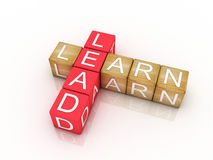 Learn and Lead. Crossword puzzle Royalty Free Stock Photo