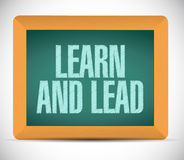learn and lead board sign illustration Royalty Free Stock Image