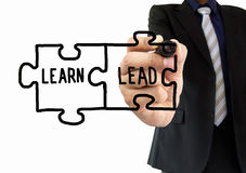 The learn and the lead Stock Images
