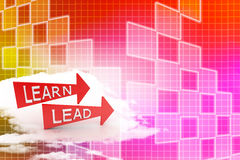 Learn and Lead Illustration Royalty Free Stock Images