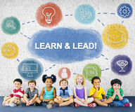 Learn And Lead Research Knowledge Graphic Concept Royalty Free Stock Images