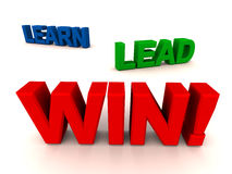 Learn lead win Royalty Free Stock Images