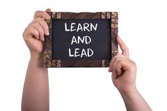 Learn and lead stock images