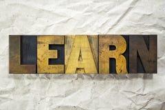 Learn Letterpress Royalty Free Stock Image