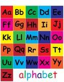 Learn letters. media for learning letters for children royalty free illustration