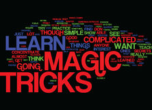 Learn Magic Tricks Text Background  Word Cloud Concept Royalty Free Stock Photo