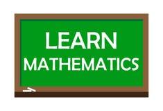 Learn mathematics write on green board. Vector illustration. stock illustration